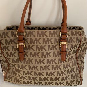 Authentic Michael Kors Signature Logo Tote Bag